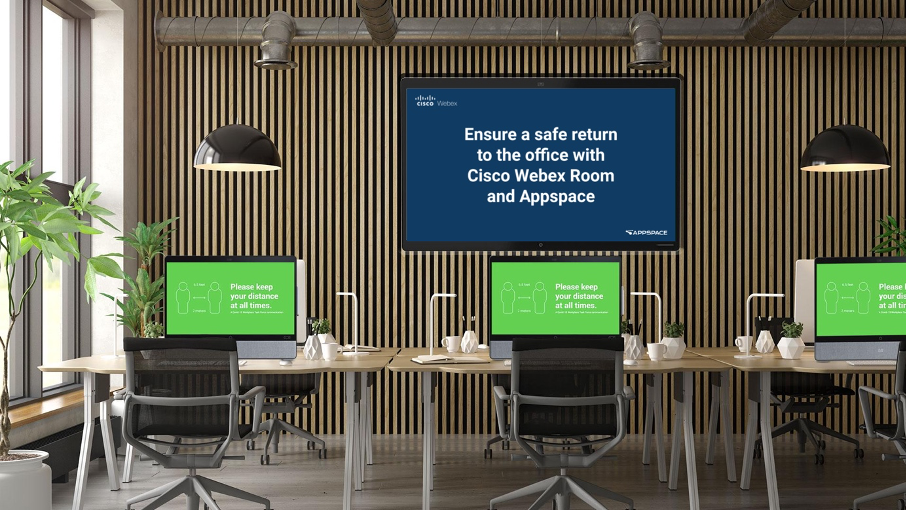 Cisco Webex Room and Appspace working together for a safe return to the office