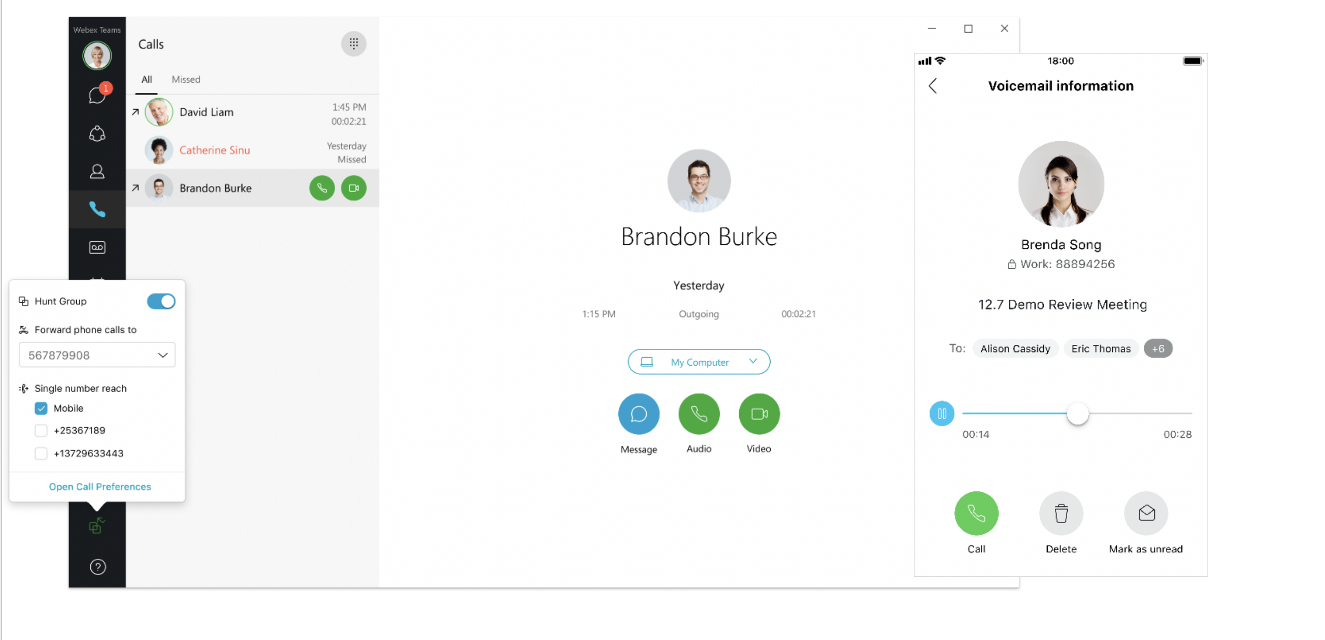 new enterprise calling features in Webex