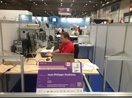 Jean-Philippe Desbiens represented Canada in Skill #39 at WorldSkills 2013. He was later hired  by Cisco in Montreal.