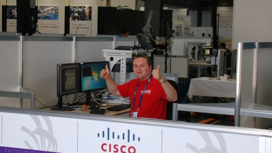 Jean-Philippe competed in Skill #39 -- IT Network Systems Administration -- which is sponsored by Cisco.