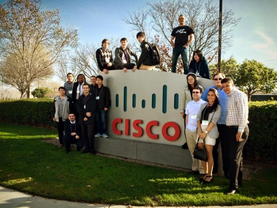 The NetRiders winners took one last picture on the Cisco San Jose campus before heading home