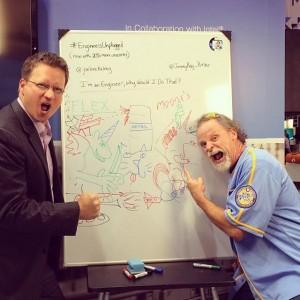 Joel McKelvey and Jimmy Ray Purser in Battle Unicorn!