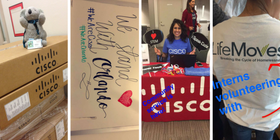 Snapchat examples from wearecisco