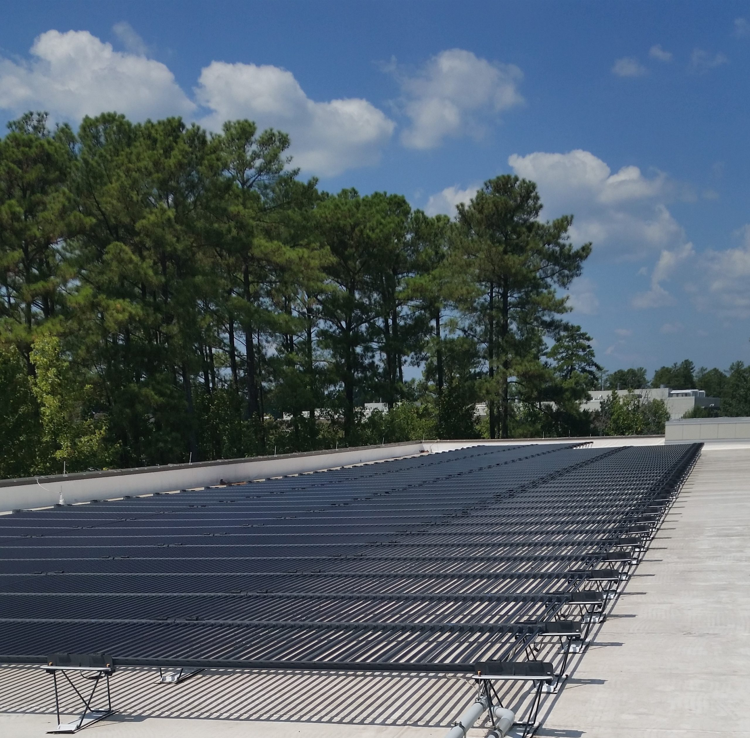 Cisco maintains a rooftop solar PV system at the RTP campus