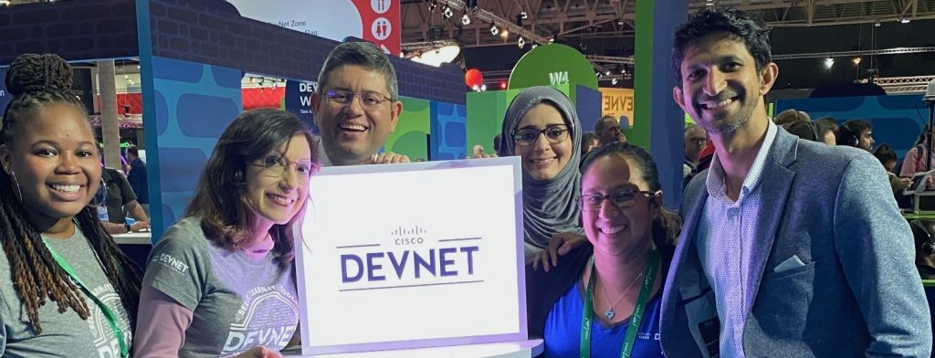 Marketing leaders Silvia Spiva Julio Fernandez Kanwal Komail Ana Nennig Dauria Henry Prashanth Shenoy DevNet Cisco Live