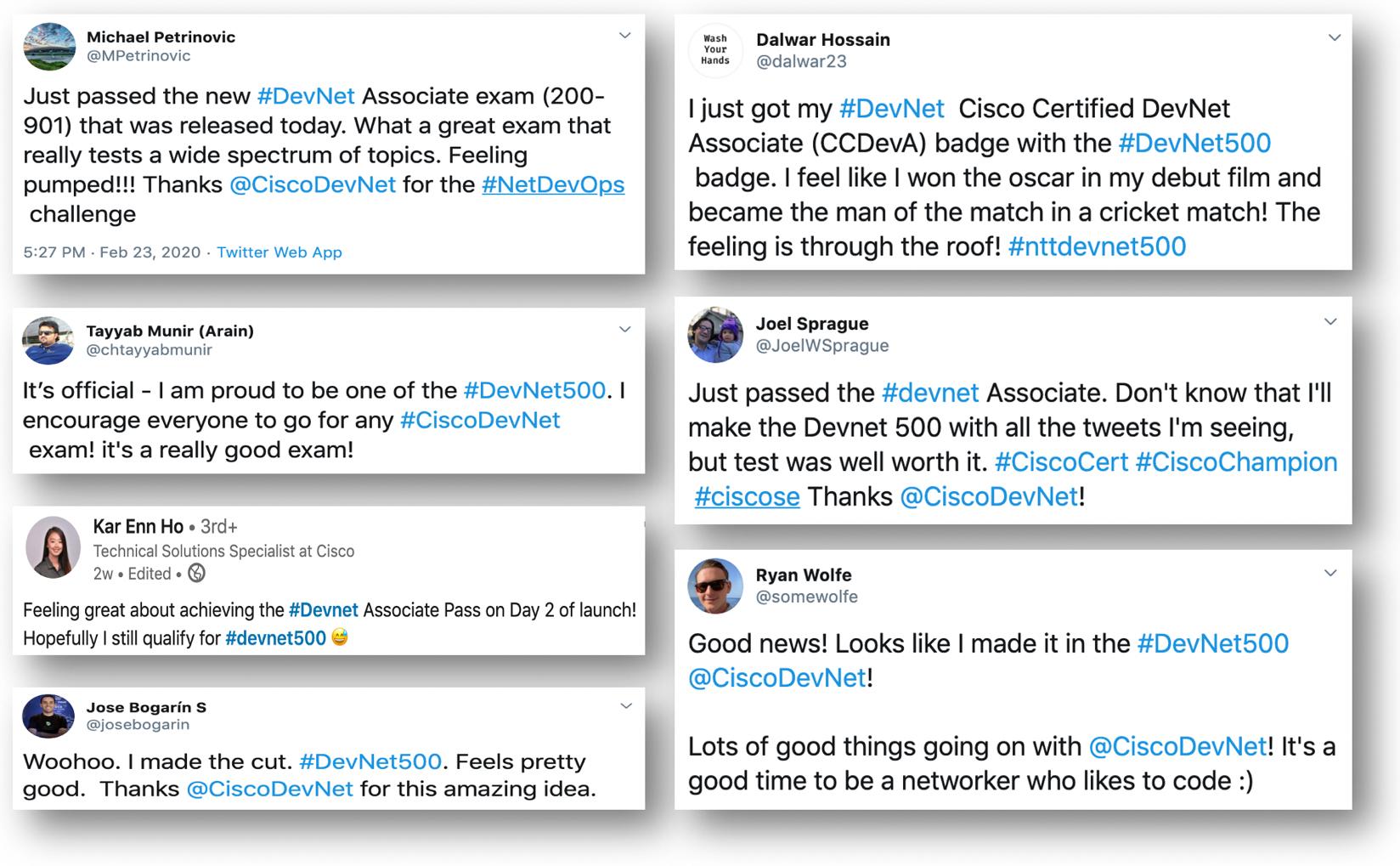 DevNet 500 tweets