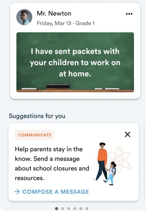 A screenshot of TalkingPoints' tool