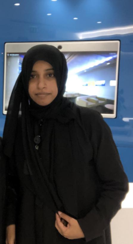 Safiya Al-Badaai smiles at a Cisco event.