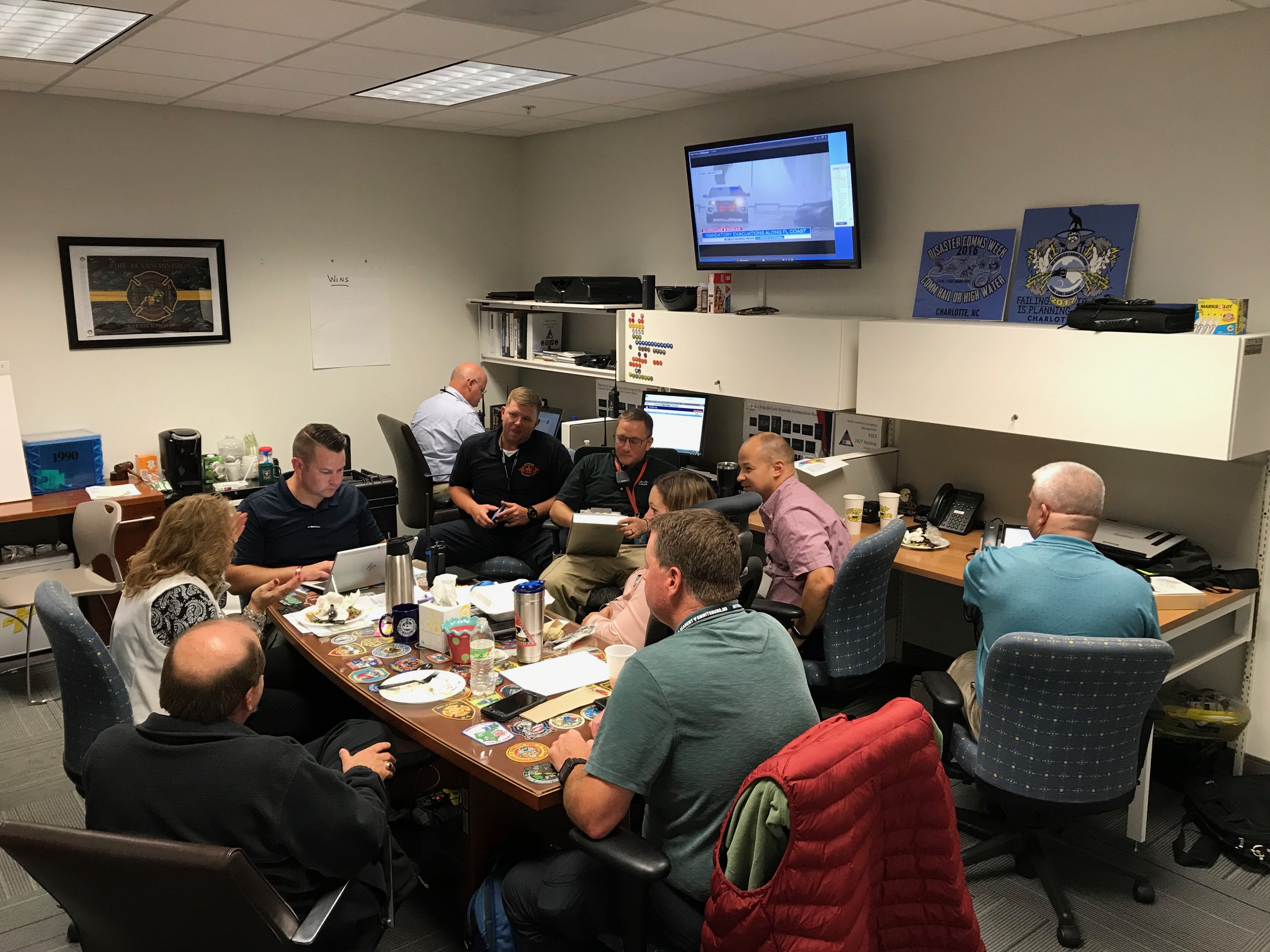 TacOps team member working with others during Hurricane Dorian