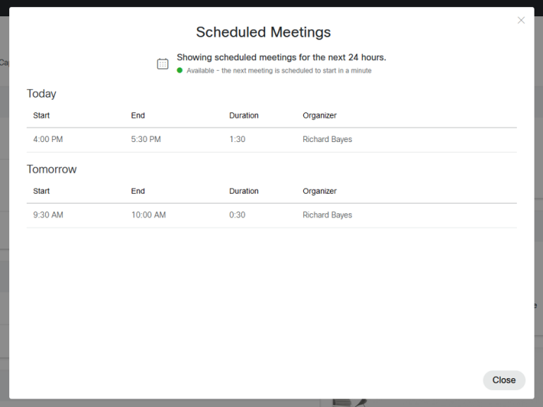 Scheduled Meeting