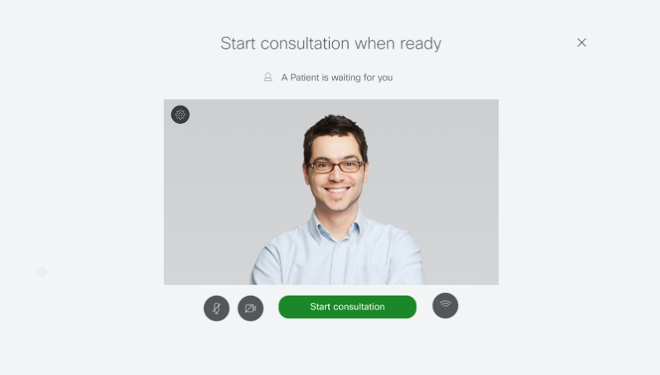patient starting consultation on Telehealth Connector