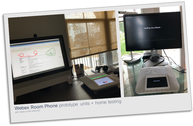 Webex Room phone prototype units and home testing