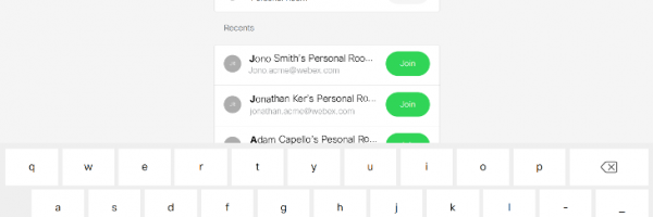 PMR and devices linked with Webex Edge for Devices through Join Webex button