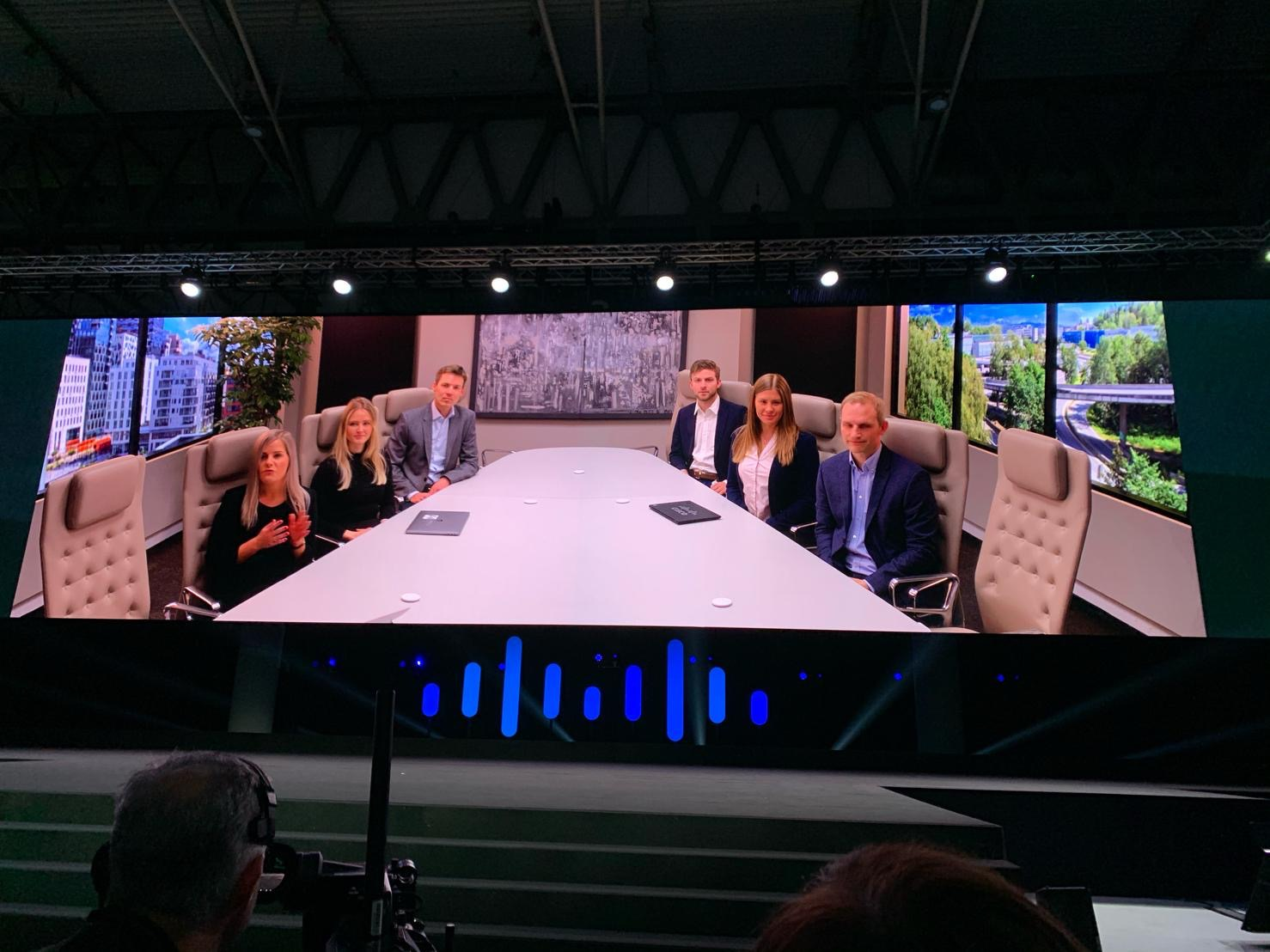 The Room Panorama demonstration during the Cisco Live Barcelona keynote presentation.