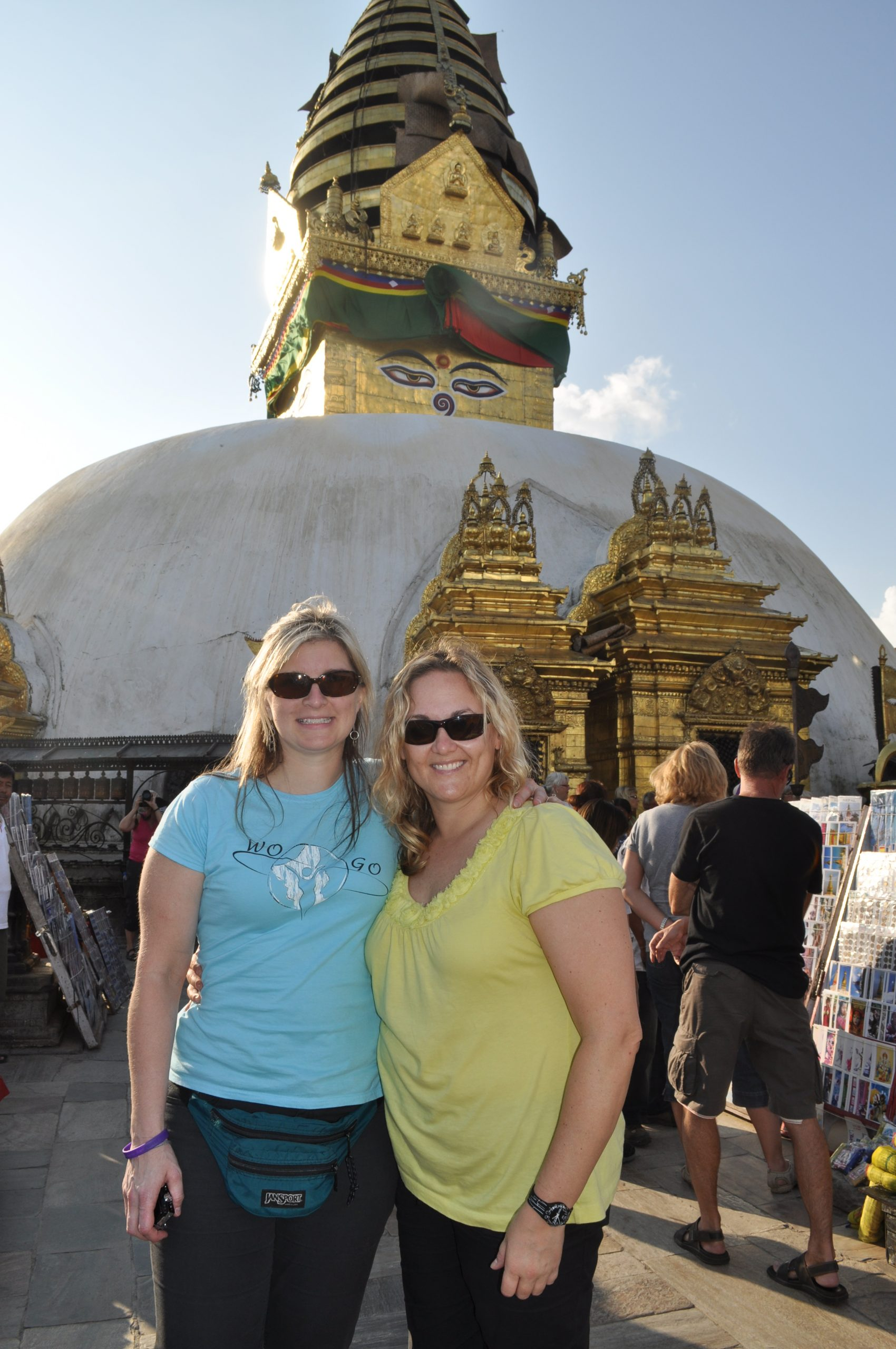Shawn and one of the WOGO doctors, Dr. Hakanson, at the Monkey Temple in Nepal.
