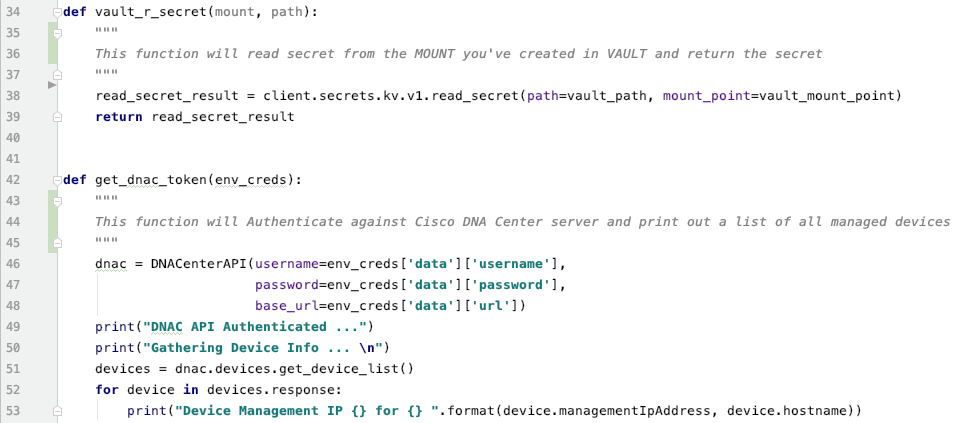 Vault DNA Center Authentication API