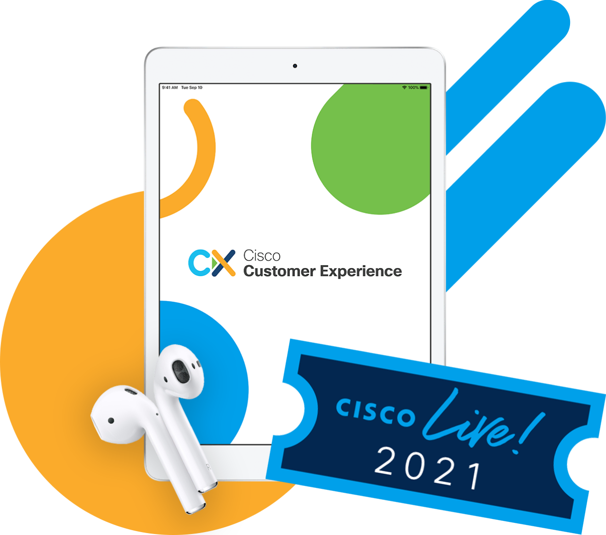 CX Battle Royale Grand Prize iPad, AirPod, Cisco Live Amsterdam Ticket