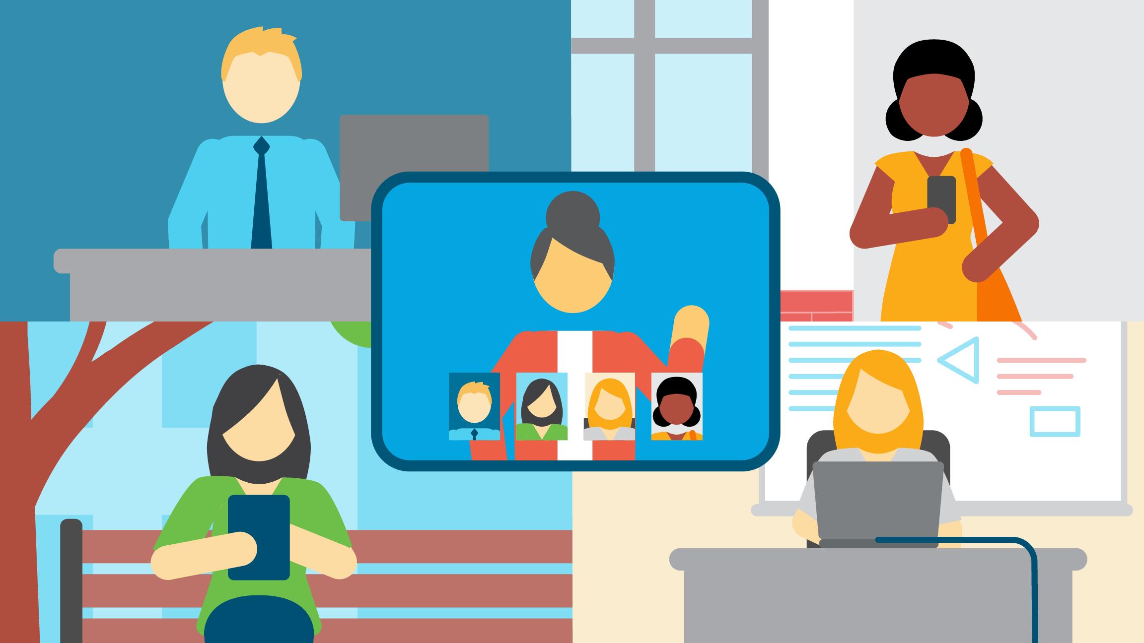 hybrid meeting on collaboration platform