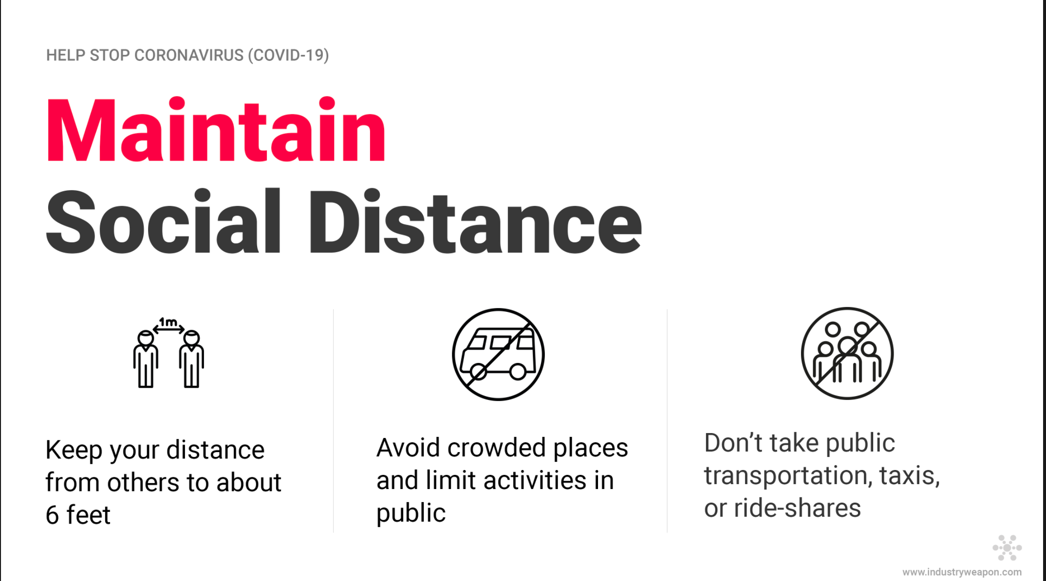 Maintain social distance sign