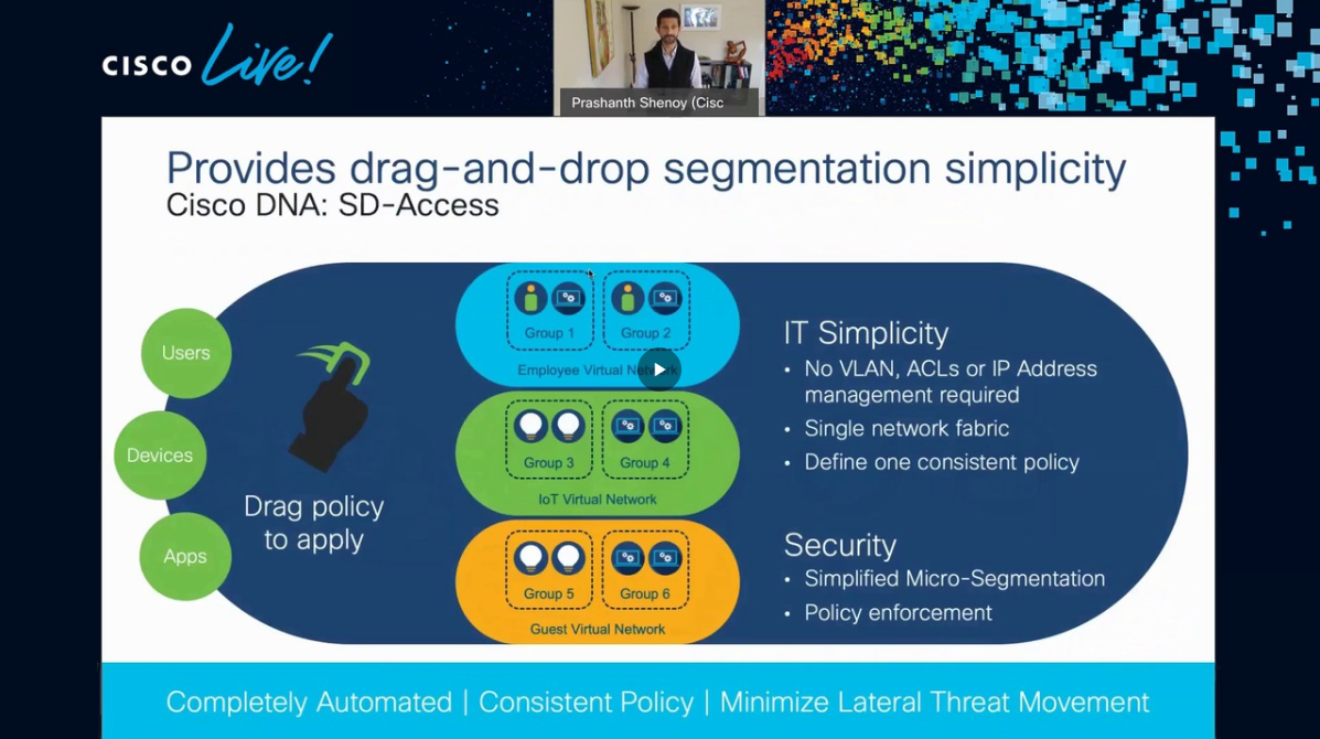 Pranshanth Shenoy at Cisco Live: Beyond SDN: 6 ways to benefit from Intent-Based Networking