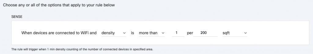 Set density alerts
