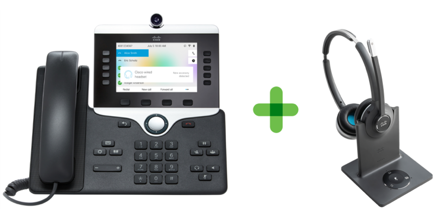 Cisco Headset and Extension Mobility showing seamless login and logout experience
