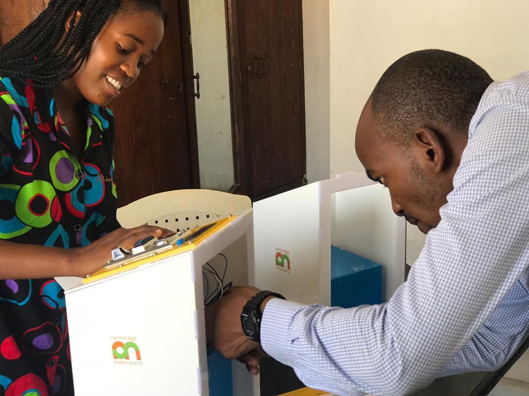 Majicom team members working on the social enterprise's water kiosks