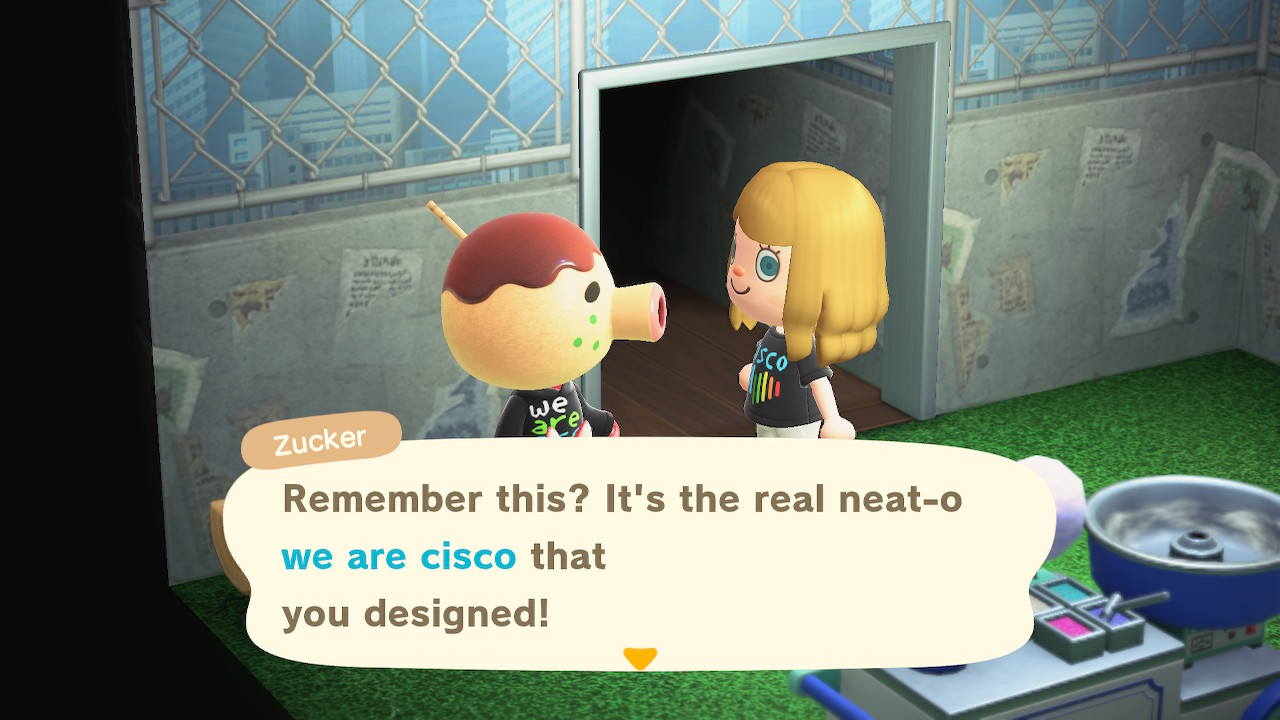 Carmen and Zucker chat about the We Are Cisco designs in Animal Crossing.