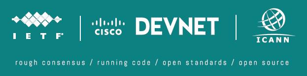 IETF DevNet ICANN logos