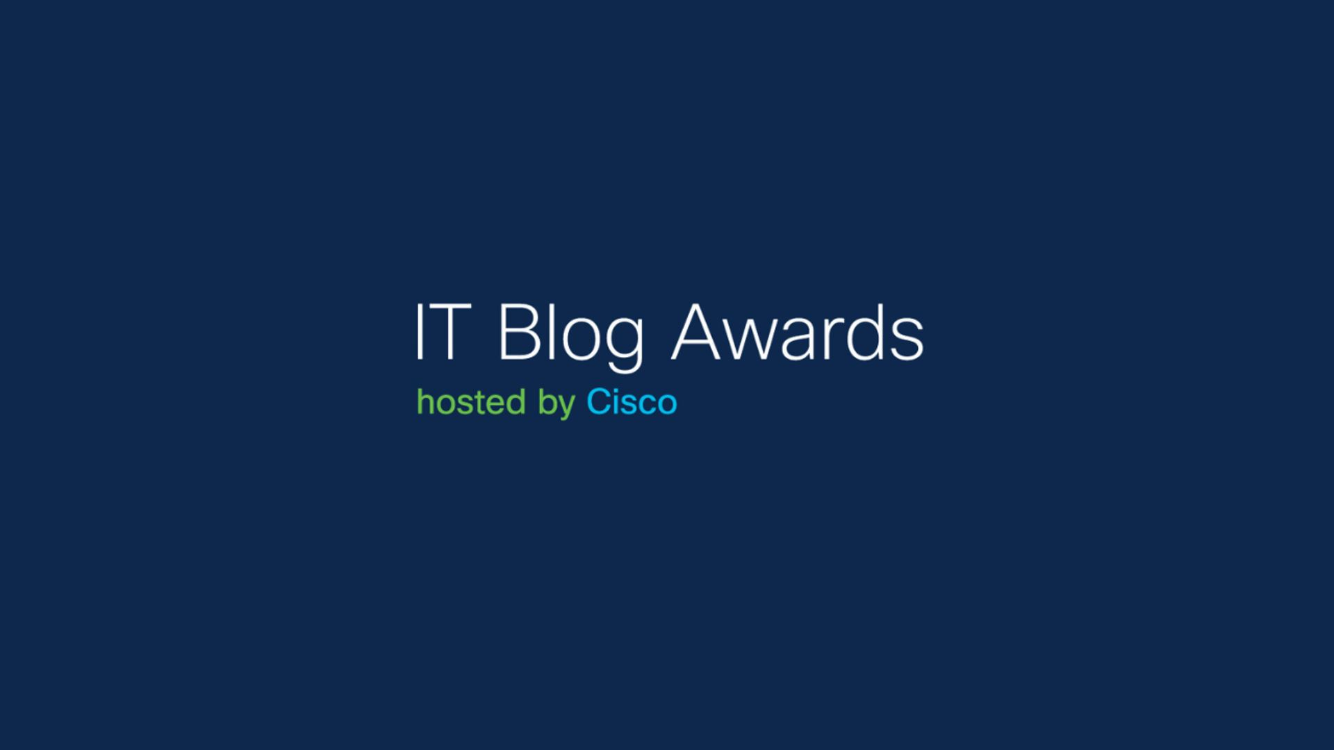 Don't miss out on the 2020 IT Blog Awards!