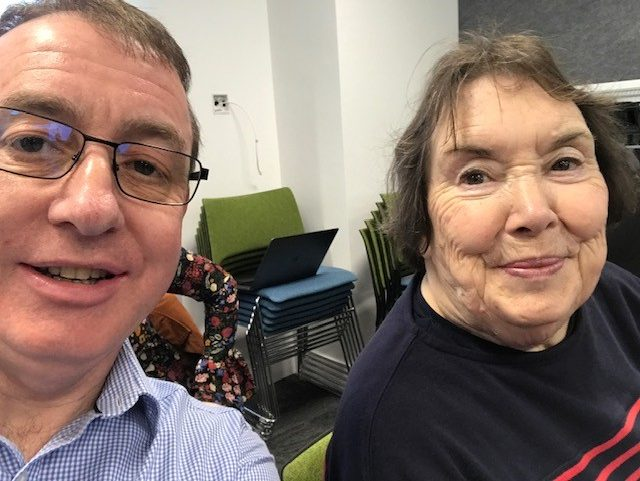 Stephen and his mum.