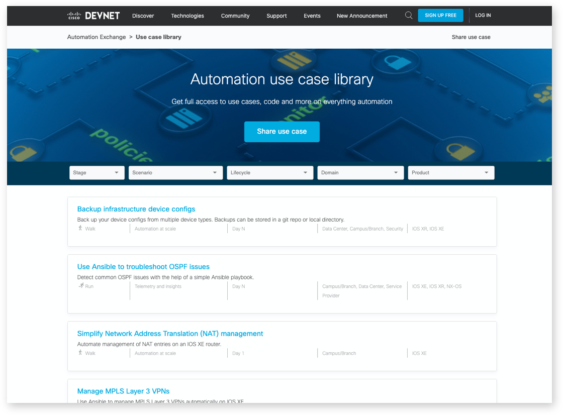 Automation Exchange Screenshot