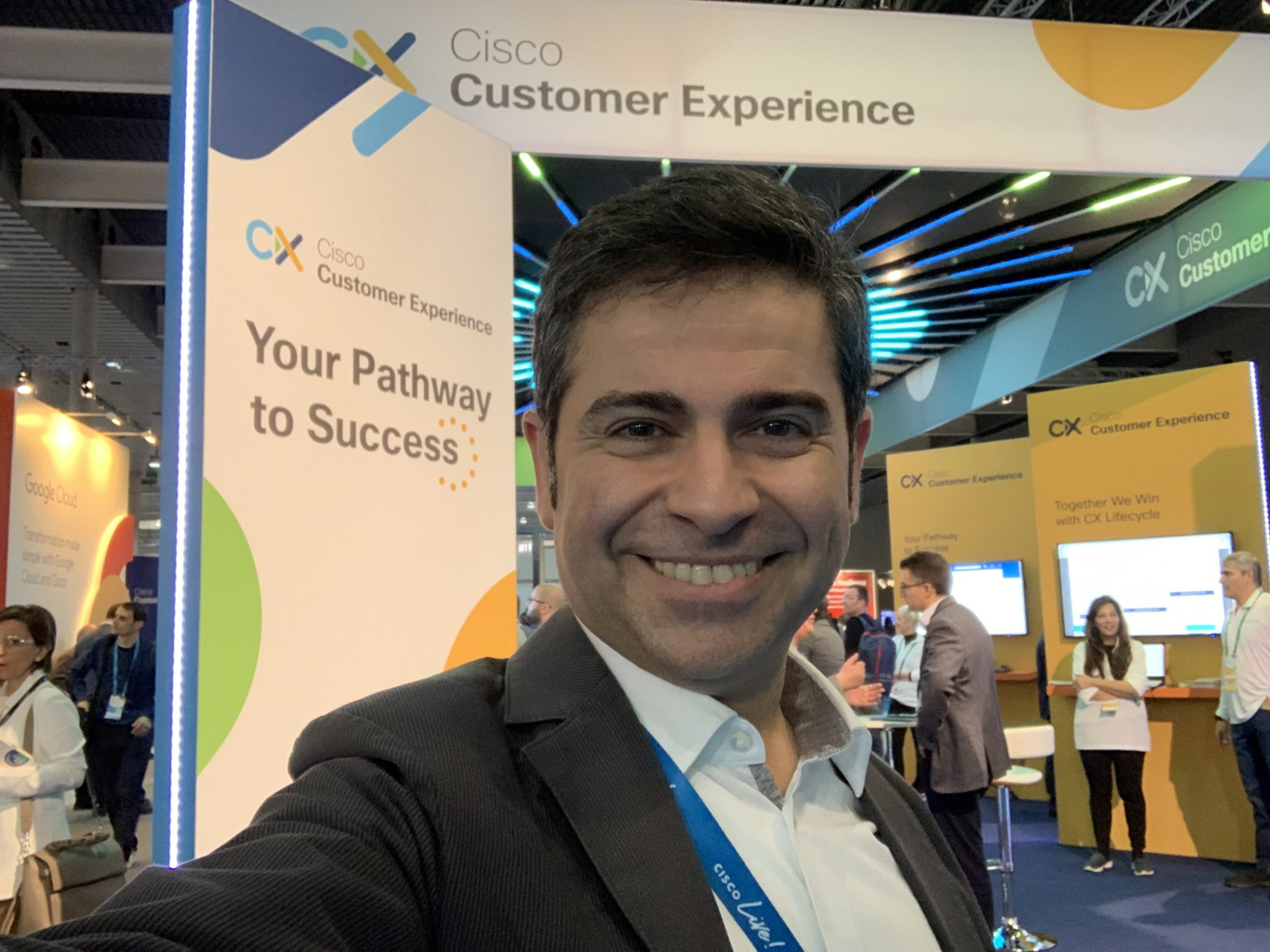Ahmet at the Cisco Booth