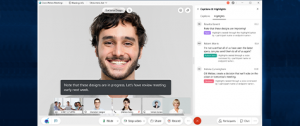 The new Webex UI and four different faces looking in the camera
