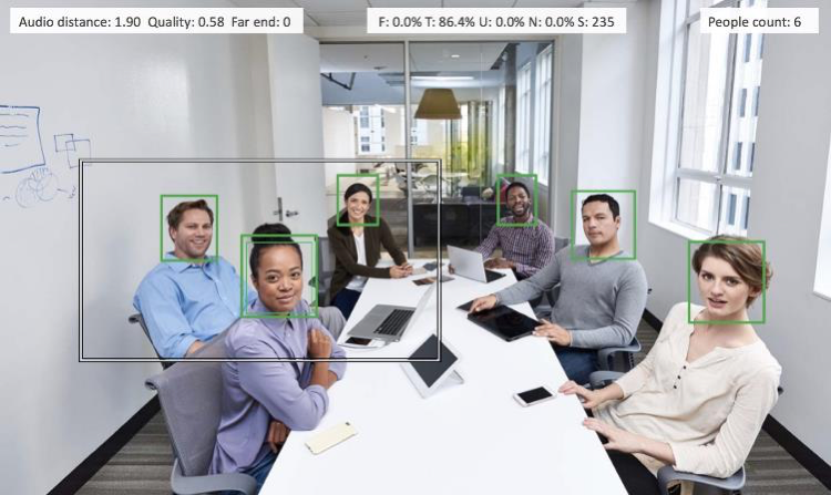 People sitting in a conference room looking at a main screen