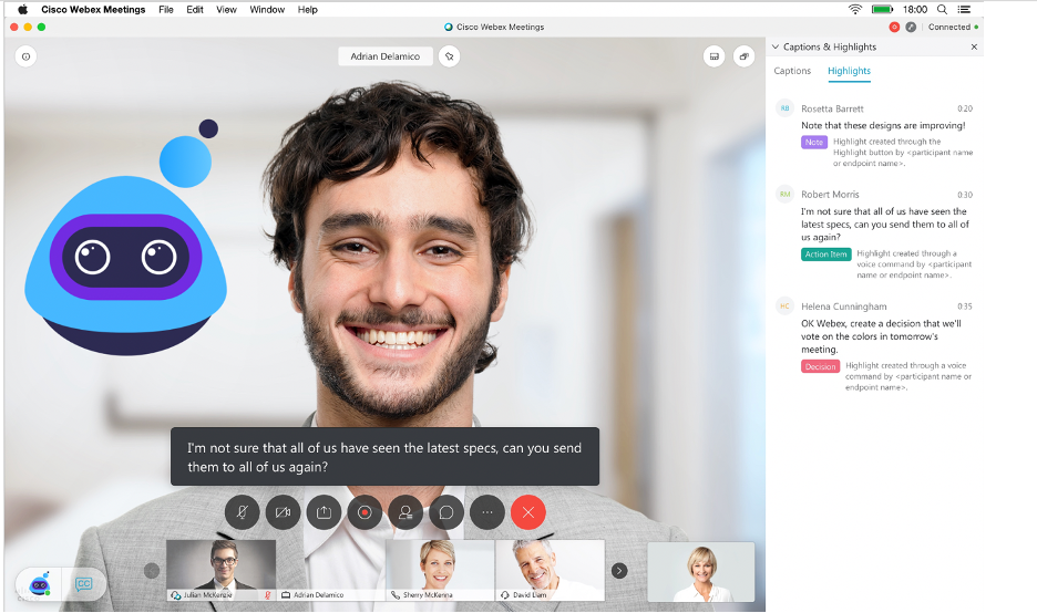 Webex Assistant for Meetings