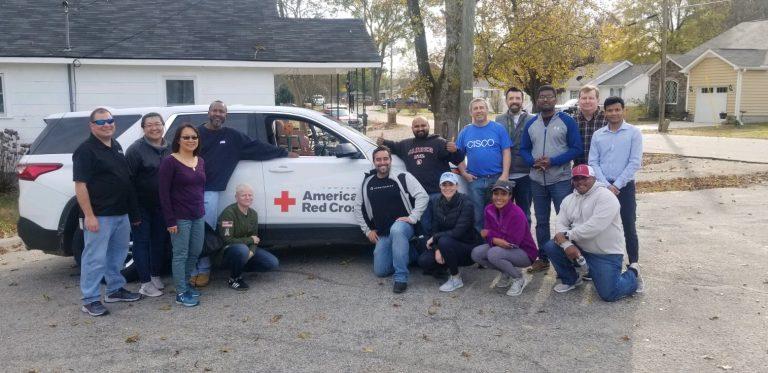 A group of American Red Cross volunteers