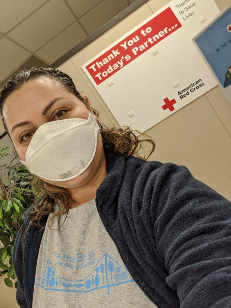 An American Red Cross volunteer