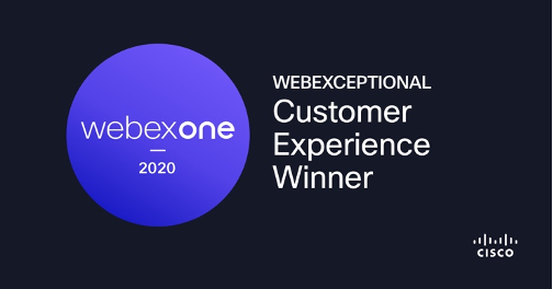 Customer Experience Winner WebexOne