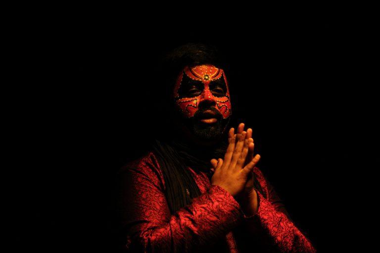 Ajay storytelling through a performance