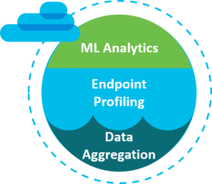 Endpoint detection by data aggregation and ML analytics