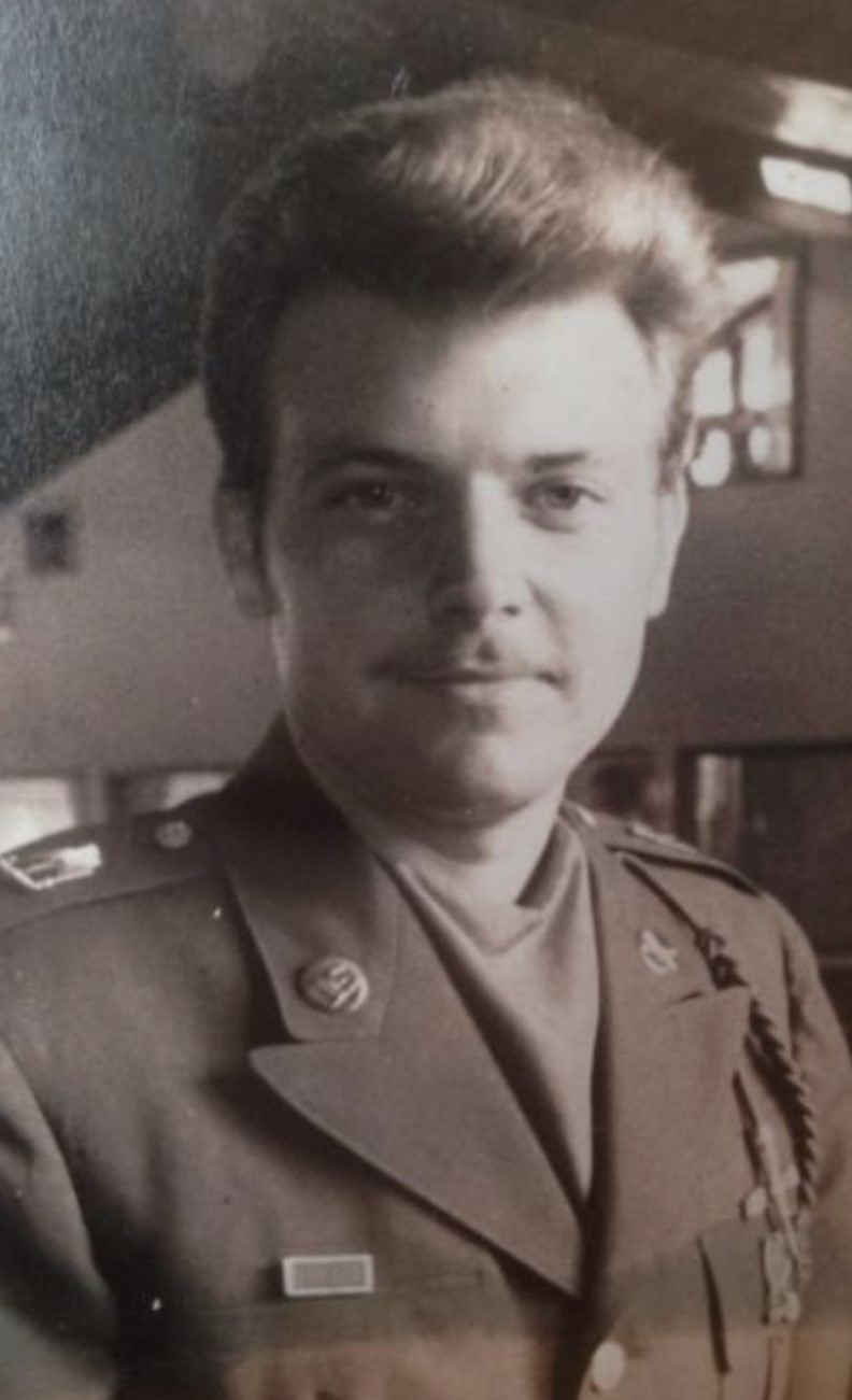 Military portrait of Seth's father