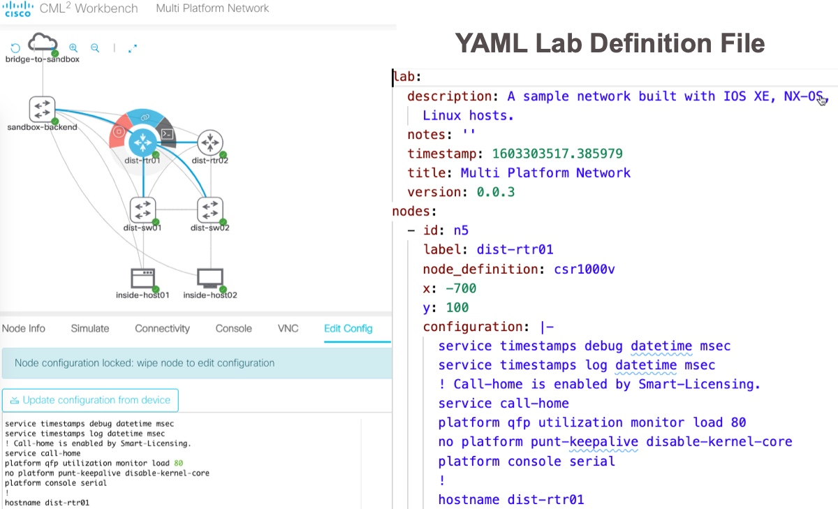 Initial Device Configuration in CML Lab