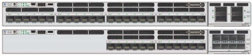 Cisco Catalyst 9300X 24 port and 12 port multi-rate 25G/10G/1G fiber