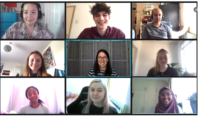 group of people in an online meeting