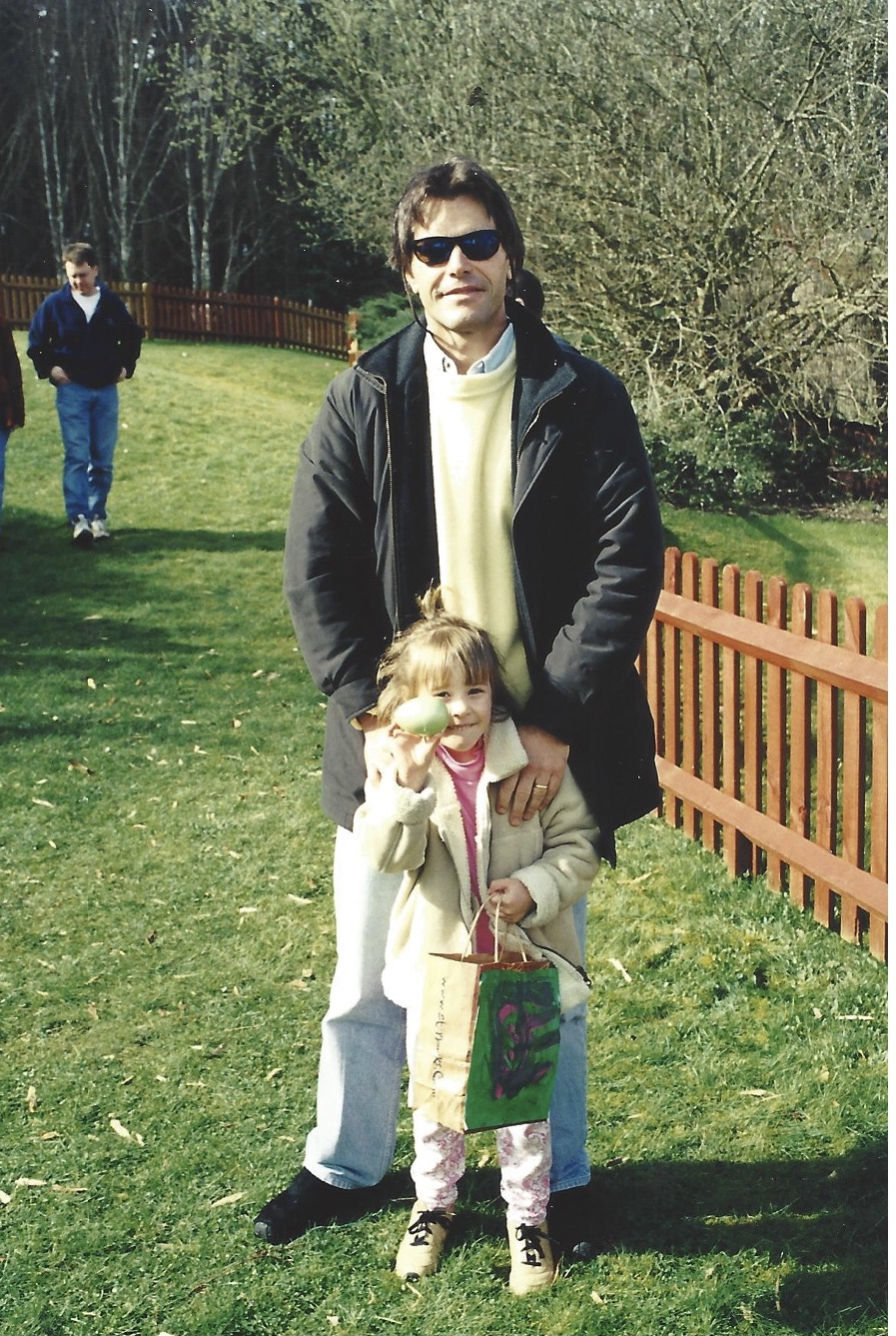 Caitlin and her dad when Caitlin was a kid