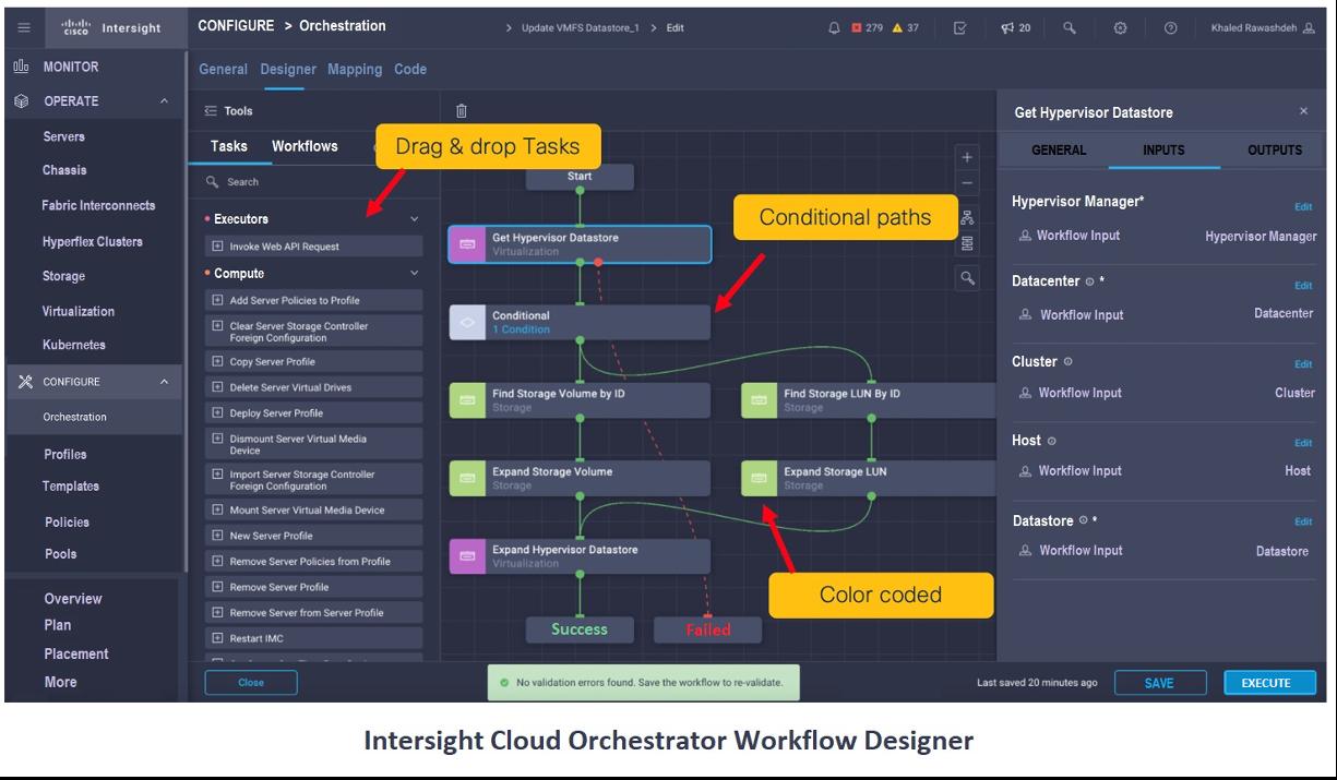 Intersight Cloud Orchestrator Workflow Designer