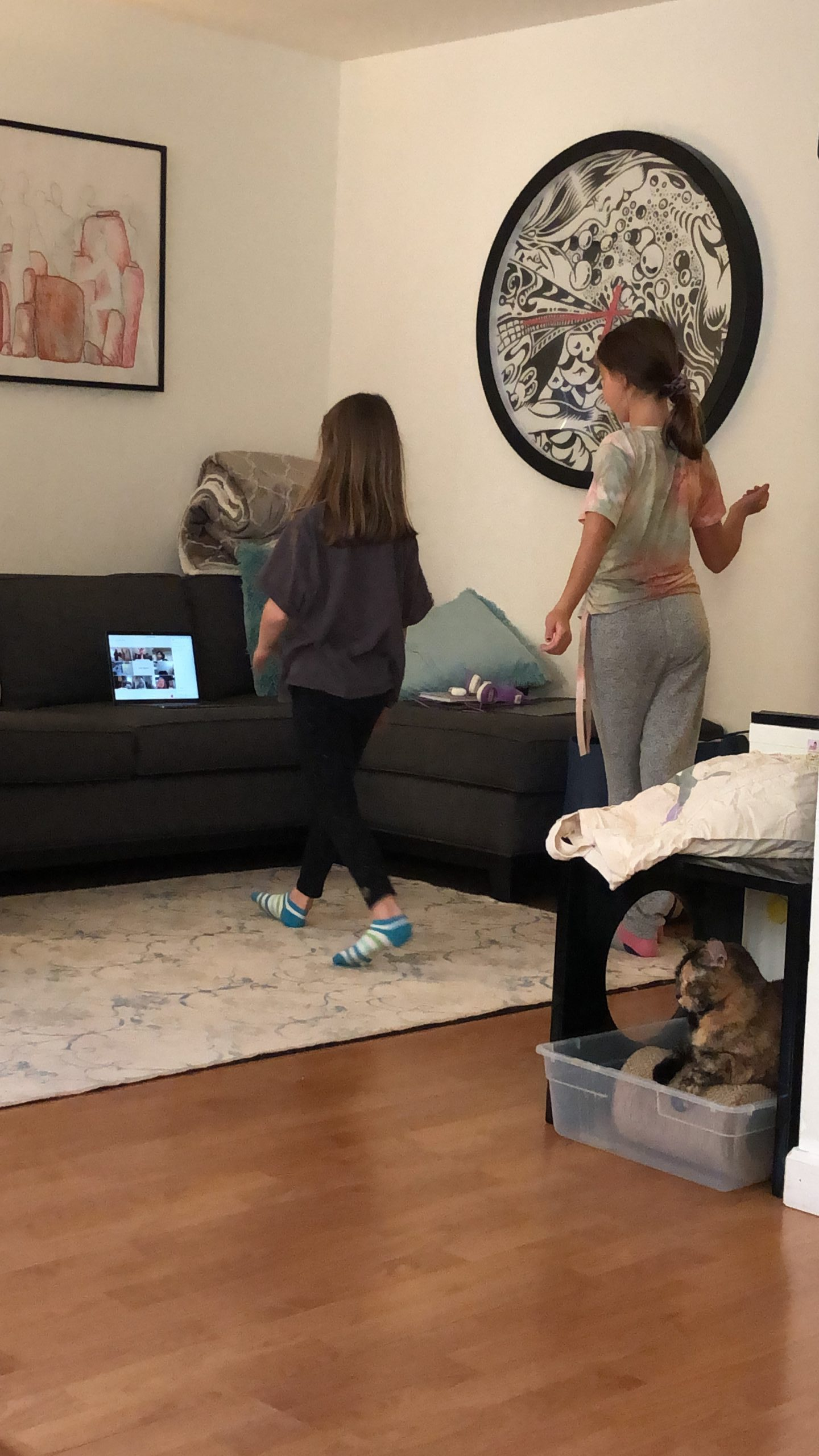 Kids activity break during remote online classes