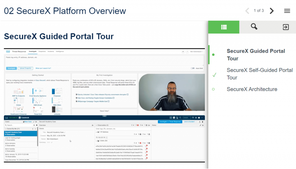 SecureX Guided Portal Tour / Platform Overview