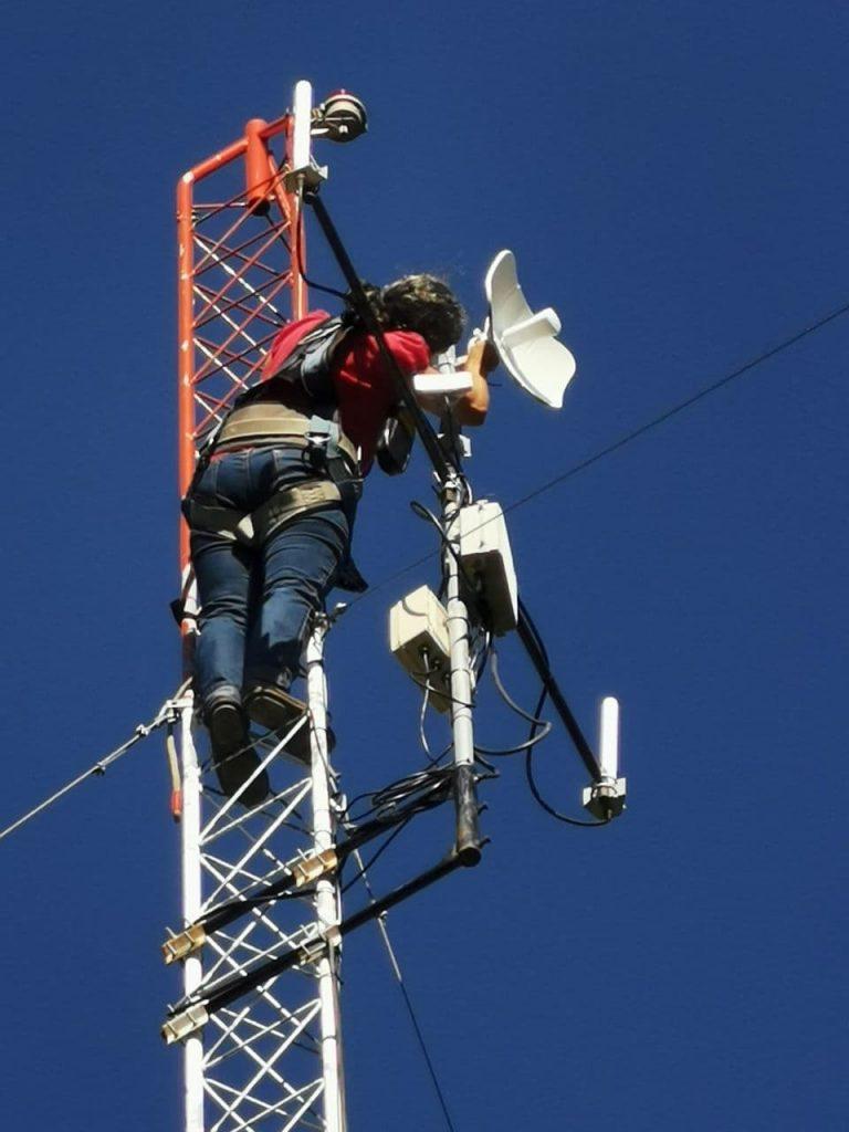 Operational team member performing maintenance